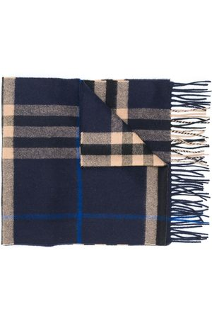 Burberry Check-pattern fringe scarf