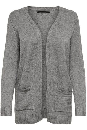 Only Dames Cardigans - Open Knitted Cardigan Dames Grijs