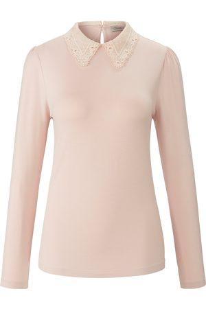 Uta Raasch Dames Lange mouw - Shirt ronde hals en lange mouwen lichtroze