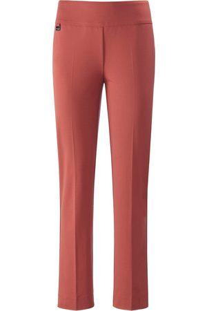 Lisette L. Dames Broeken - Enkellange modellerende broek brede band Van