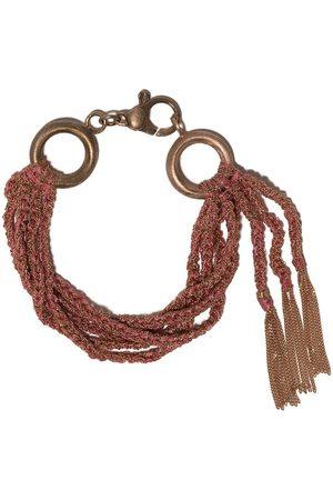 CAROLINA BUCCI 18kt rose gold and silk Lucky layered bracelet