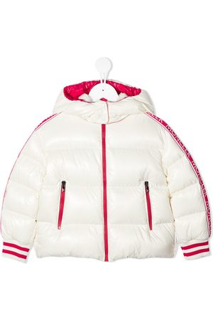Moncler Logo-tape quilted down coat