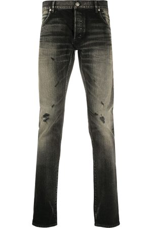 Balmain Distressed detail slim-fit jeans