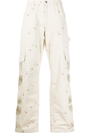 OFF-WHITE Pleated logo print cargo pants