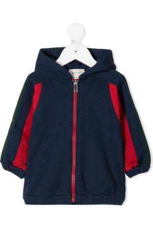 Gucci Web-stripe zip-front hooded jacket
