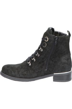 Waldläufer Dames Veterlaarzen - 903821 Brizu Black H-Wijdte Veter boots