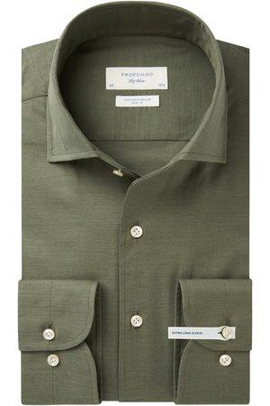 Profuomo Heren Overhemden - Twill overhemd extra lange mouw heren