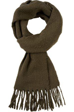 Profuomo Heren Sjaals - Legergroen wol blend sjaal heren