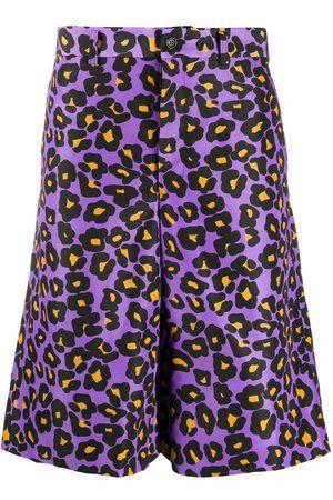 Comme des Garçons Leopard print knee-length shorts