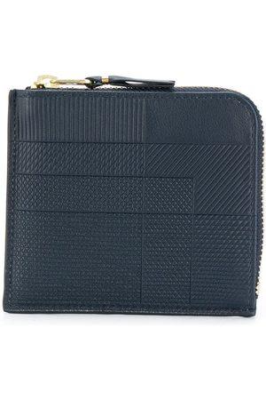 Comme des Garçons Navy mixed pattern wallet