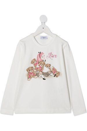 MONNALISA Alice in Wonderland print T-shirt