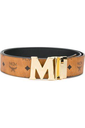 MCM Claus M monogram-print reversible belt