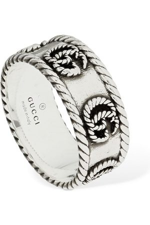 Gucci 9mm Gg Braided Marmont Thick Ring