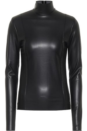 Peter Do Faux leather turtleneck top