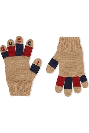 Gucci Logo-embroidered gloves
