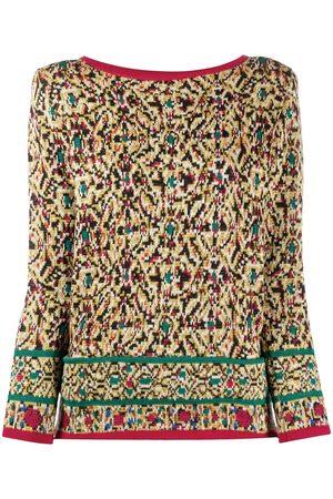 Yves Saint Laurent 1980s floral pattern jumper