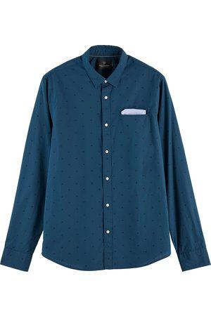 Scotch&Soda Regular fit chic pochet shirt blue