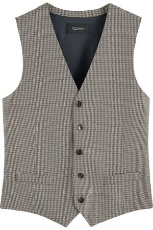 Scotch&Soda Heren Bodywarmers - Classic yarn-dyed structured gilet combo c