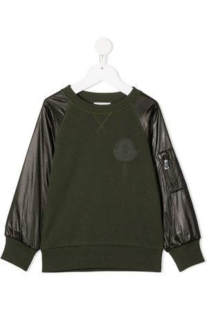 Moncler Contrast-sleeve crew neck sweatshirt