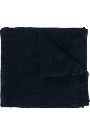 Moncler Logo-patch virgin wool scarf