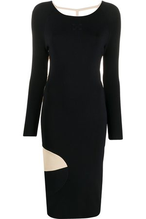 OFF-WHITE Front n' Back ribbed-knit dress