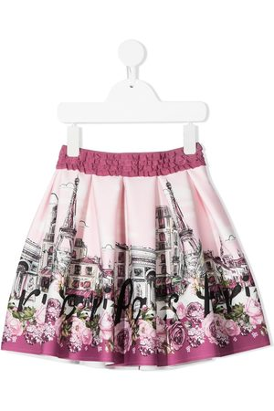 MONNALISA Paris print flared skirt