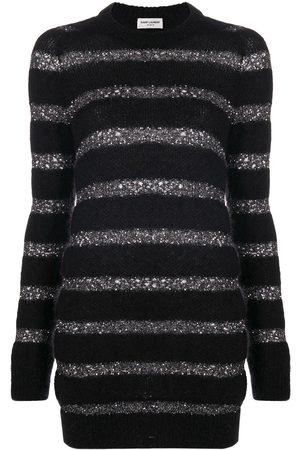 Saint Laurent Striped jumper dress