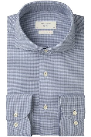 Profuomo Heren Overhemden - Japanese knitted overhemd Sky Blue heren