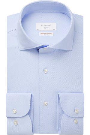 Profuomo Japanese knitted overhemd Sky Blue heren