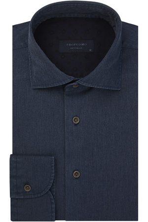 Profuomo Heren Overhemden - Navy garment dye overhemd Originale heren