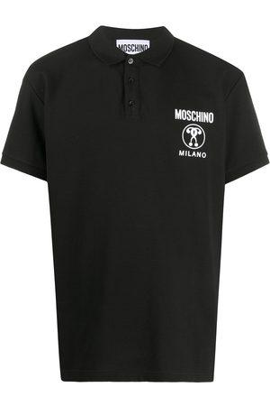 Moschino Double Question Mark short-sleeve polo shirt
