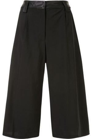 CHRISTOPHER ESBER Leather waistband knee-length shorts