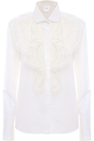 Patou Dames T-shirts - Embroidered Cotton Poplin Shirt