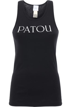 Patou Logo Print Cotton Tank Top