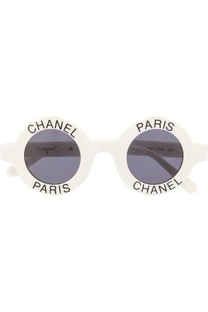 CHANEL Round logo sunglasses