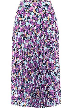 Plan C Floral pleated midi skirt