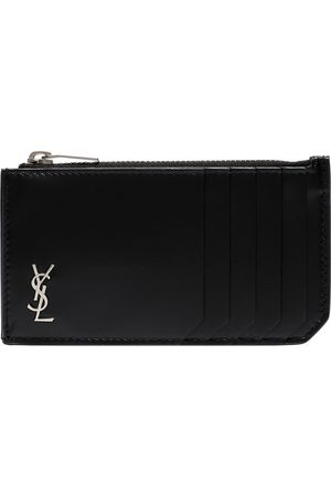 Saint Laurent Monogram-plaque cardholder