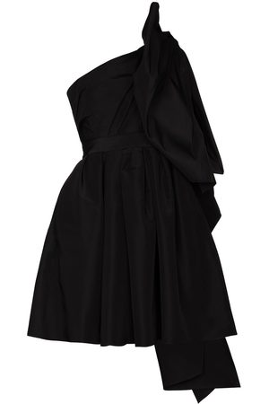 Carolina Herrera One shoulder bow detail mini dress