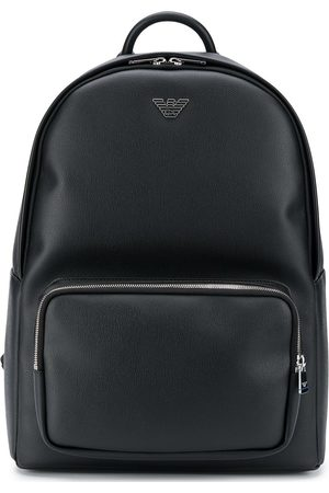 Emporio Armani Logo plaque faux leather backpack