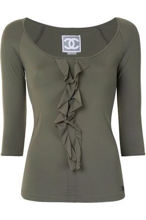 CHANEL 2007 ruffled detail three-quarter sleeves blouse