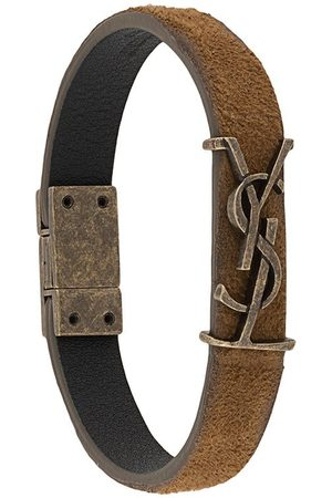 Saint Laurent Monogram suede bracelet