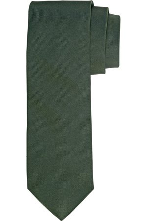 Profuomo Legergroen ribs zijden stropdas heren