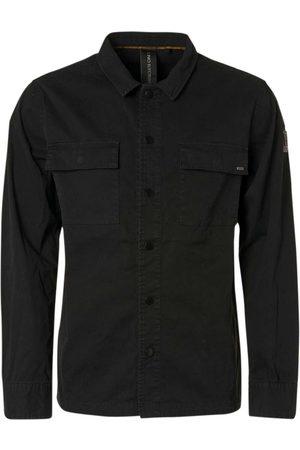 No Excess Shirt long sleeve full zip + button black