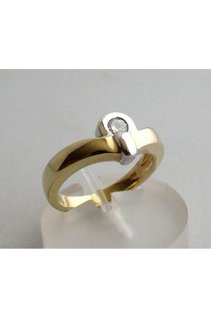 Christian Geel gouden ring met diamant