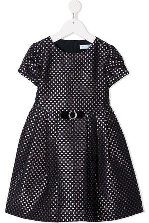 Abel & Lula Short-sleeved polka dot print dress