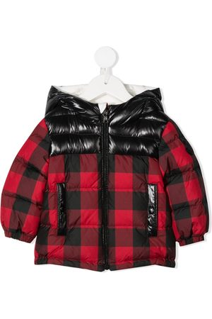 Moncler Downfilled plaid rain jacket