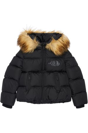 Dsquared2 Meisjes Jassen met bontkraag - Hooded Nylon Down Jacket W/ Faux Fur