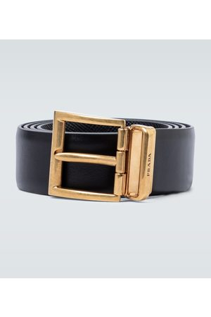 Prada Saffiano leather reversible belt