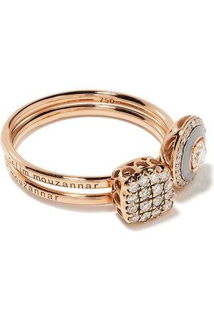 SELIM MOUZANNAR 18kt rose diamond ring set