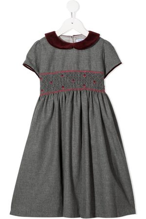 SIOLA Embroidered flared dress